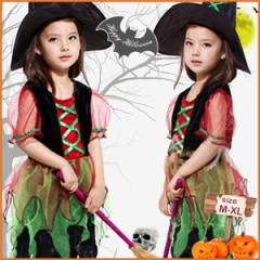 送料無料!ハロウィン衣装 コスプレ 子供 女の子 魔女 小悪魔 クリスマス コスチューム 仮装 コスプレ コスチューム仮装衣装  帽子