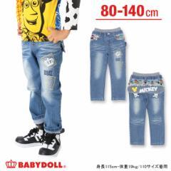 SALE50%OFF アウトレット ディズニー コミックデニムロングパンツ ベビーサイズ キッズ ベビードール 子供服 /DISNEY-8227K