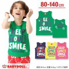 3/9一部再販 アウトレットSALE50%OFF SMILEタンクトップ-ベビーサイズ キッズ ベビードール 子供服-9500K