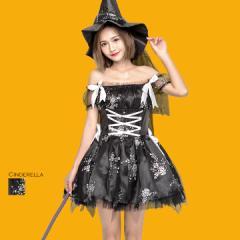 即日発送 ハロウィン 仮装 コスプレ 衣装 コスチューム 魔女 帽子 プリンセス 姫 グループ 団体 hwps9018