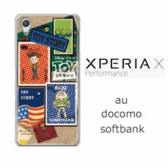 Xperia X performance (SOV33) クリアケース 【Disney/ディズニー】「TOYSTORY/トイストーリー(stamp)」 バズ/ウッディ/エイリアン