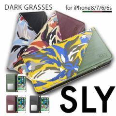 iPhone8 iPhone7/6s/6 【SLY/スライ】 「DARK GRASSES」 手帳型ケース