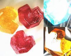 ハートのダイヤ、優しく、歯ごたえの有る、キャンデイです、直火焚きの釜でつくります