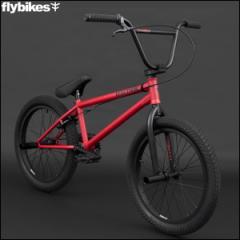 "BMX FLYBIKES フライバイクス 2017 ""ELECTRON 20.5 LHD"" FLAT RED ストリート 自転車 20インチ"