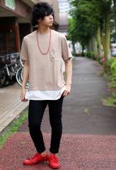 夏のTシャツカジュアルコーデ