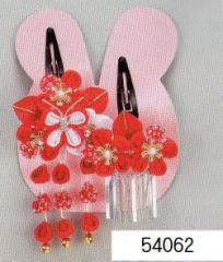 七五三 髪飾り 頭飾り (うさぎちゃんケース入)54062