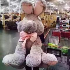 【送料無料】ぬいぐるみ うさぎ 抱き枕 ウサギ 大きい アメリカ 兎 プレゼント 女性 贈り物 クリスマス だきらくら坐高70cm