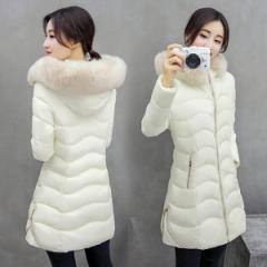 コート 中綿コート 綿入れ 綿コート アウター ロングコート レディース ファー付き フード付き ロングジャケット 長袖 トップス