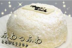【ハッピースマイル】 洋菓子 ホールケーキ ドームケーキ 誕生日ケーキ バースデーケーキ プレート付き ドーム ホール ふわふわ フワフワ