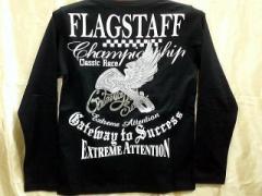 Flag Staff 長袖Tシャツ アメカジ ピストンウィング刺繍 フラッグスタッフ
