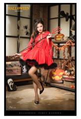 コスプレ デビル コスチューム 悪魔 小悪魔 魔女 ウィッチ セット ペア ハロウィン コスプレ衣装 仮装 セクシー 変装 赤