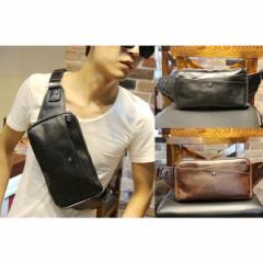 ボディバッグ メンズ  バッグ かばん 革 ショルダーバッグ ヒップバッグ ウエストバッグ 2way