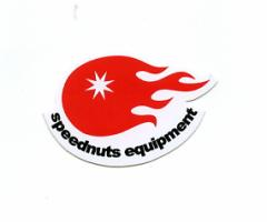 SPEEDNUTSステッカー SPEEDNUTS equipment〔イラスト シール〕