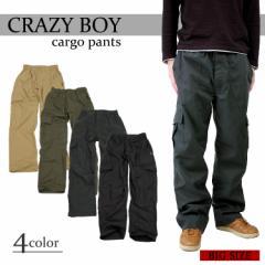 『CRAZY BOY カーゴパンツ』 メ ンズ ボトムス TCウェザー 4カラ ー 3L 4L 大きいサイズ 大寸 ワーク ズボン パンツ CRAZYBOY