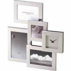 時計付きフォトフレーム【メタルクロックフレーム卓上タイプ】写真/時計/リビング/インテリア
