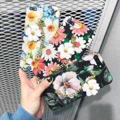 【メール便可】花柄飾り付きスマホケース アイフォンケース携帯ケース レディース iphone6/6s iphone7対応