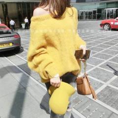 即納 ゆったりセーター/トップス/ニット/レディース/大きいサイズ/ローゲージニット/春服