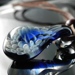 1点物、ガラスペンダント188 ガラスネックレス レディースペンダント レザーチョーカー 日本製<Dragon Pipe>