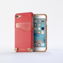 n.max.n New Minimalist Series iPhone8 , 7対応 本革縫製ケース 画面カバー(フラップ)無しタイプ 【AP-PHE7-7404】 ピンク