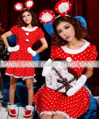 クリスマス/ミニー/サンタ衣装/クリスマス衣装/コスプレ/ドレス ワンピース9449