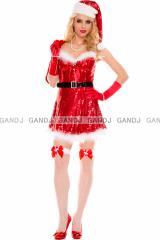 クリスマス/プレゼント袋付き/サンタ衣装/コスプレ/ドレス9456
