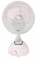 大特価セール かわいいキティちゃん 扇風機 クリップ扇風機 卓上 風量調節OK