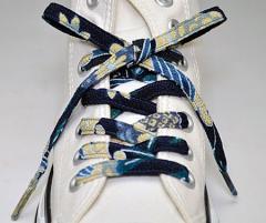 メール便 和柄靴ひも 柄多数ちりめん靴紐ノーマル おしゃれなメンズレディーススニーカーくつひも クツヒモ 日本製シューレース(色210)