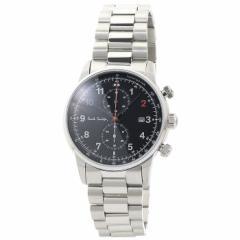 ポールスミス Paul Smith ブロック クロノ BLOCK CHRONO P10143 ブラック シルバーベルト メンズ 時計 ウォッチ