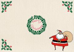 ペーパー・ランチョンマット『クリスマス サンタC』 10枚入 (B4版)  LUN-454