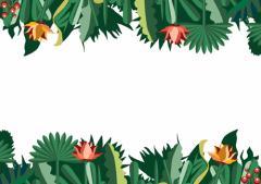 ペーパー・ランチョンマット『Jungle Dinner』 10枚入 (B4版)  LUN-034