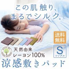【限定セール】レーヨンソフトパイル 涼感 敷パッド シングル S 夏 涼しい 放熱性 吸湿性 寝具 敷きパッド CGRSP-10200 送料無料