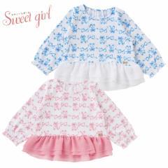 8d2764855f5e8 スウィートガール リボン柄Tシャツ ベビー服  赤ちゃん  ベビー