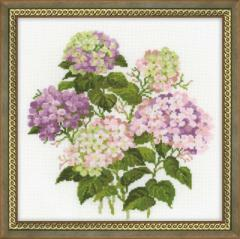 RIOLISクロスステッチ刺繍キット No.1246 「Garden Hydrangea」 (庭のアジサイ あじさい 紫陽花)