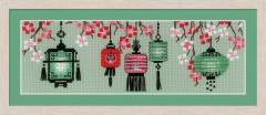 RIOLISクロスステッチ刺繍キット No.1707 「Lanterns」 (ランタン ちょうちん 提灯) 【海外取り寄せ/納期1〜2ヶ月】