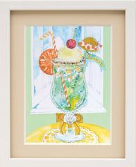 ミユキ ビーズデコールキット 「窓辺のクリームソーダ」(8月) BHD-112 PART XVII(パート17) スイーツデコールの12か月シリーズ MIYUKI Au