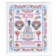 Olympusクロスステッチ刺繍キット7153「ハッピーウェディング」 ウェディング オリムパス クロス刺繍 ウェルカムボード