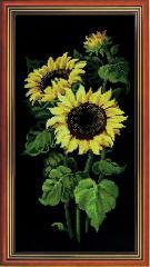 RIOLISクロスステッチ刺繍キット No.1056 「Sunflowers」(ヒマワリ)