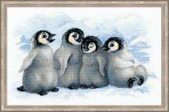 RIOLISクロスステッチ刺繍キット No.1323 「Funny Penguins」 (ペンギン)