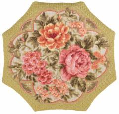 RIOLISクロスステッチ刺繍キット No.1558 「Evening Garden」(Cushion クッション 40cm×40cm) 【取り寄せ/納期30〜60日程度】