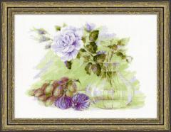 RIOLISクロスステッチ刺繍キット No.1712 「Sweet Figs」 (イチジク 無花果) 【海外取り寄せ/納期1〜2ヶ月】