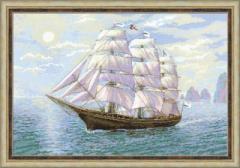 RIOLISクロスステッチ刺繍キット No.1356 「Tailwind」 (追い風 船 帆船)