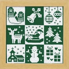 Olympusクロスステッチ刺繍キット X-103 Olympusクロスステッチ刺繍キット 「クリスマス」(グリーン) クリスマス フレーム