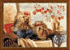 RIOLISクロスステッチ刺繍キット No.1248 「Pets」 (ペット 犬 イヌ) 【海外取り寄せ/納期30〜60日程度】