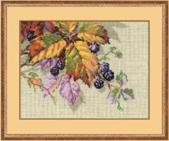 RIOLISクロスステッチ刺繍キット No.990 「Blackberries」 (ブラックベリー)  blackberry