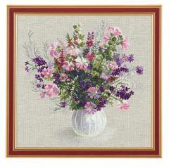 RIOLISクロスステッチ刺繍キット No.1010 「Summer Bouquet」 (夏のブーケ)