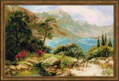 RIOLISクロスステッチ刺繍キット No.1397 「Mountain Lake」 (山の湖)