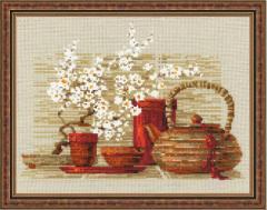 RIOLISクロスステッチ刺繍キット No.1122 「Tea」 (お茶)
