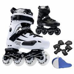 ローラースケート ローラーブレード インラインスケート 初心者向け フィットネス 大人用 ジュニア用 5点セット ローラースケート