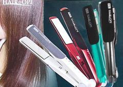 【 送料無料 】サニープレイス ヘアオペ MG プラチナ 輝髪 アイロン サロン用ヘアアイロン 《 ホワイト 》