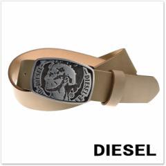 【セール 40%OFF!】DIESEL ディーゼル メンズレザーベルト B-HED / X05162 PR227 グレー